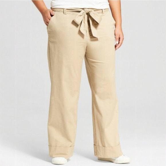 bf058a5b31e8 a new day Pants - Khaki Wide Leg Pants NWOT